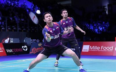 Ahsan Hendra Menang, Indonesia Perkecil Kedudukan dari Denmark 1-2