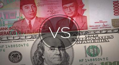 Rupiah Keok ke Level Rp14.325 USD