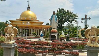 Taman Doa Santa Perawan Kota Sragen Jadi Magnet Wisatawan Berbagai Agama
