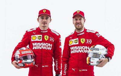 Leclerc Tetap Dukung Vettel Jadi Pembalap Nomor 1 Ferrari