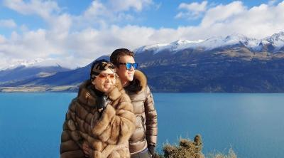 Potret Mesra Syahrini dan Reino Barack Liburan di New Zealand