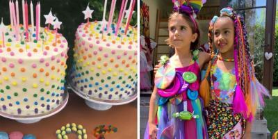 Rayakan Ulang Tahun Anak, Kourtney dan Kim Kardashian Bikin Pesta Mewah Bertema Candy Land