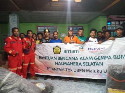 Antam Tetapkan Dua Posko Induk Penyaluran Bantuan Korban Gempa Malut