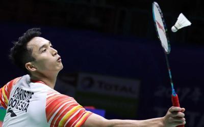 Takluk dari Chou Tien Chen, Jonatan Tersingkir dari Indonesia Open 2019