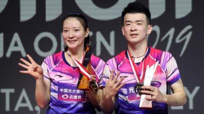 Kebanggaan Ganda Campuran China Raih Gelar Juara di Indonesia Open 2019