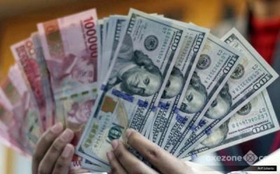 Dolar AS Tekan Rupiah ke Rp14.263 per USD