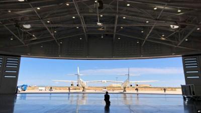 Mengintip Interior Bandara Wisata Luar Angkasa Virgin Galactic