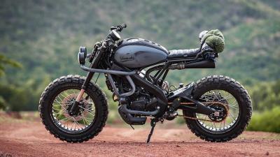 Gaharnya Tampang Yamaha XSR 155 dengan Sentuhan Modifikasi Trail Breaker
