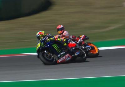 Rossi Kehilangan Banyak Waktu Gara-Gara Marquez