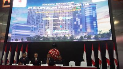 Perdana di BEI, Saham Bhakti Agung Propertindo Naik 20%