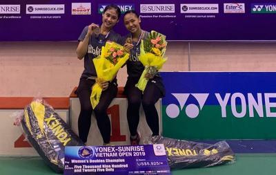 Juara Vietnam Open 2019, Della Rizki Harap Bisa Lanjutkan Tren Positif