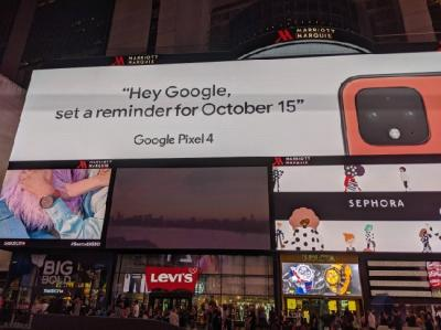 Google Konfirmasi Warna Coral Pixel 4 Lewat Iklan di Times Square
