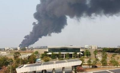 Kebakaran Rumah Pengepul Plastik Tak Ganggu Aktivitas Bandara Soetta