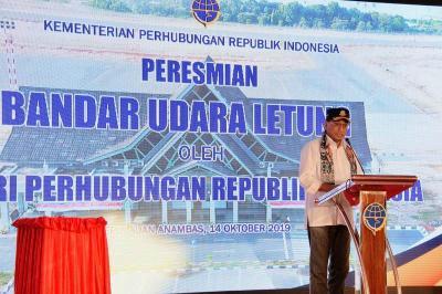 Ada Bandara Anambas, Menhub: Pembangunan Bukan Hanya di Jawa