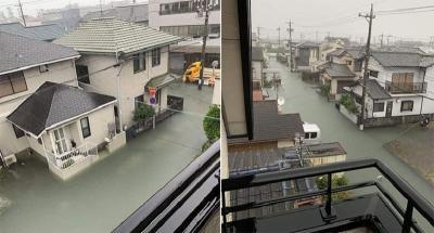 Viral Foto Banjir di Jepang Pasca Badai, Netizen Indonesia Left Group