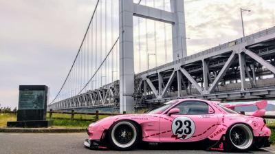 Modifikasi Mazda RX 7 Berkelir Pink Terinspirasi dari Porsche 917K