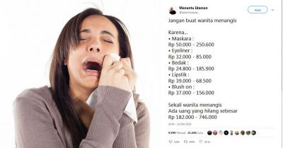 Viral Bikin Perempuan Menangis Rp746 Ribu Hilang, Netizen Missqueen Can't Relate!