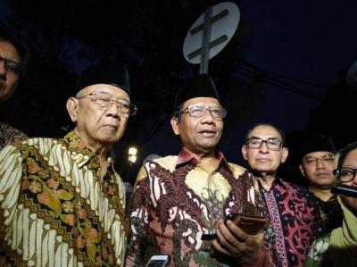 Jelang Purnatugas, JK Disambangi Mahfud MD hingga Gus Sholah