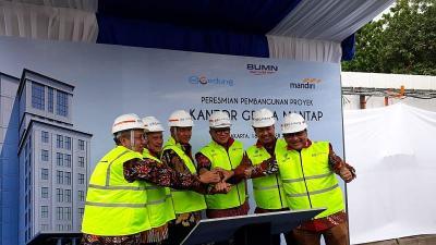 Wika Gedung Bangun Kompleks Perkantoran Bank Mandiri Rp211 Miliar
