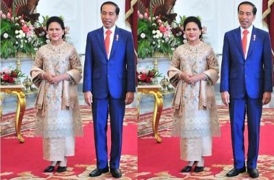 Tampilan Serasi Jokowi dan Iriana di Pelantikan Presiden dan Wapres RI