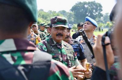 Jelang Pelantikan Presiden, Panglima TNI dan Kapolri Cek Kesiapan Pasukan