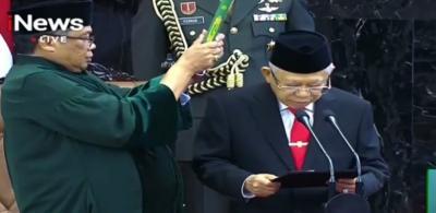 Ma'ruf Amin Resmi Gantikan Posisi Jusuf Kalla sebagai Wapres Jokowi
