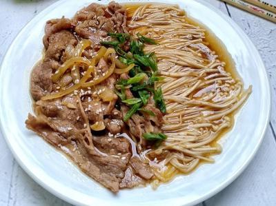 Makan Siang Cobain Enoki Daging Siram dan Mie Ramen Miso Daging, Ini Resepnya!