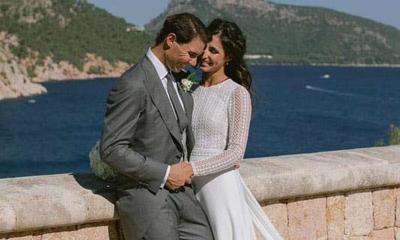 Gaun Pengantin Istri Rafael Nadal Contek Milik Meghan Markle?