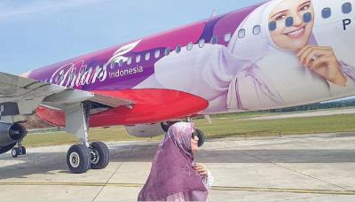 Foto Wajahnya Terpampang di Pesawat, Shireen Sungkar Ngaku Malu