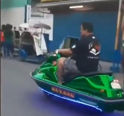 Modifikasi Yamaha N-Max Menggunakan Bodi Jet Ski, Hanya Berjalan di Darat