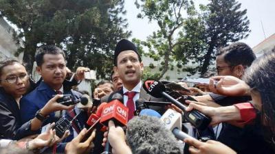 Nadiem Belum Bahas Konsep Pertahanan Rakyat Semesta dengan Prabowo