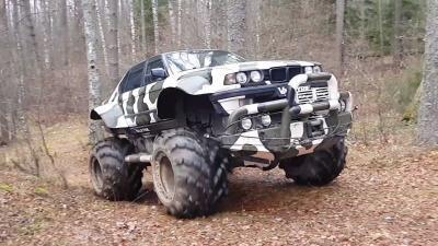 Diubah Jadi Truk Monster, BMW Ini Siap Jelajahi Hutan