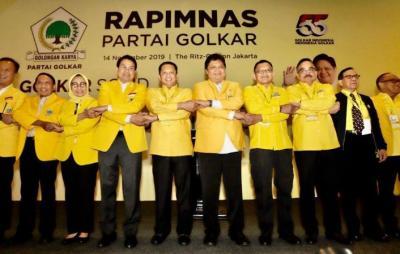 Lewat Rapimnas, DPD Tingkat I Kompak Minta Airlangga Kembali Pimpin Golkar