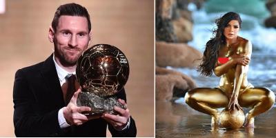 Messi Raih Ballon d'Or 2019, Model Cantik Unggah Foto Seksi Jadi Trofi Hidup