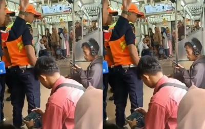 Viral Penumpang KRL Santuy Diusir Gara-Gara Merokok