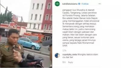 Pria yang Diduga Persekusi Anggota Banser NU Dilaporkan ke Polisi