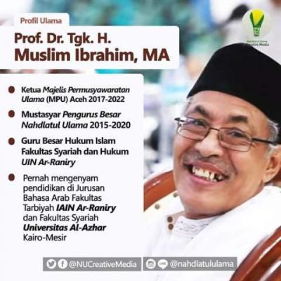 Ketua Majelis Ulama Aceh Prof Muslim Ibrahim Wafat