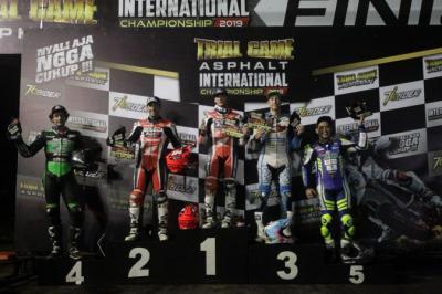 Pembalap Tuan Rumah Gagal Taklukkan Rider Asing di Trial Game Asphalt Internasional Championship 2019