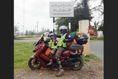 Touring ke Makkah Gunakan Sepeda Motor, Pria Ini Akui Tak Ganti Ban