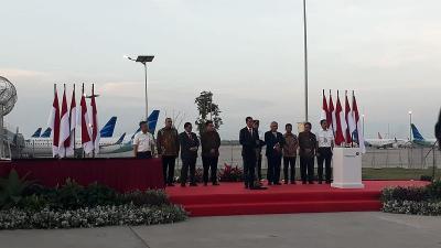 Di Depan Jokowi, Menhub Pamer Keunggulan Runway 3 Bandara Soetta