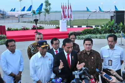 Jokowi: East Connection Taxiway Bandara Soetta 35 Tahun Baru Dibangun
