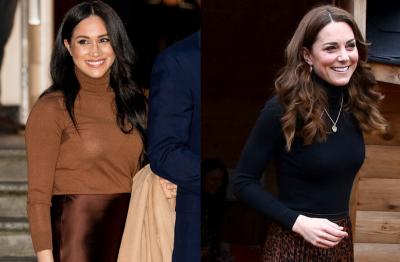 Adu Gaya Kate Middleton-Meghan Markle Pakai Coat Kembaran, Kamu Tim Siapa?