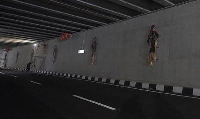 Kerennya Ornamen Tari di Underpass New Yogyakarta International Airport