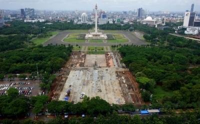 Revitalisasi Monas Dihentikan Sementara, Begini Kilas Balik Pembangunannya