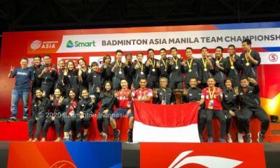 Tim Putra Indonesia Segel Hattrick Juara di Kejuaraan Bulu Tangkis Beregu Asia
