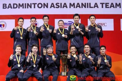 <i>Hattrick</i> Juarai Kejuaraan Beregu Asia, Susy: Tim Putra Indonesia Luar Biasa!