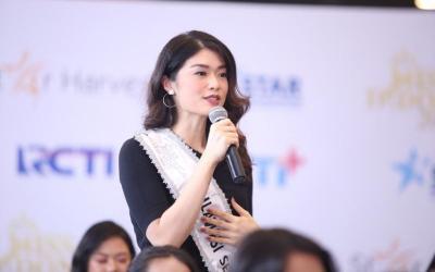 Kesan Miss Sulawesi Selatan 2020 Carla Yules saat Berkunjung ke Newsroom MNC Media
