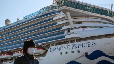 Kapal Pesiar Diamond Princess Jadi Pusat Penyebaran Baru COVID-19