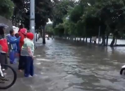 Banjir Masih Terjadi di Cilincing Jakarta Utara