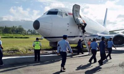 Pesawat Cargo Tujuan Wamena Tergelincir di Bandara Sentani